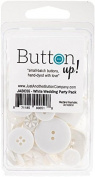 Button Up! Party Pack Buttons-White Wedding