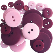 Button Up! Smoothie Pack Buttons-Cranberry