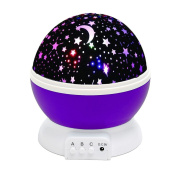 Star Lighting Lamp, 4 LED Beads 360 Degree Night light Rotation Night Cosmos Star Projection Lamp with USB Cable for Kids Baby Bedroom Bed Lamp Christmas Gifts Children