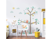 Walltastic Woodland Wall Stickers - Tree & Animals Baby Nursery Room Decoration