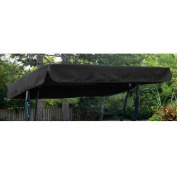 Black Water Resistant 3 Seater Replacement Canopy ONLY for Swing Seat/Garden Hammock