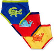 Zoocchini Ocean Learning for Boys Briefs 3-4 years