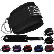 AQWA ANKLE STRAP Cuffs Workout Cuff Straps Cable Machine D RING Lifting Attachment Multi Gym Leg Thigh Pulley Exercise
