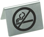 Stalwart U044 Stainless Steel Table Sign, No Smoking