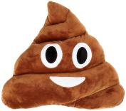 Emoji Poop Pillow 30CM, Dark Brown Emoticon Pillows, Thick Plush Large Cushion, Kids Favourite Pillow