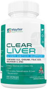 Clear Liver Cleanse | Premium Detox Support with Choline, Selenium and Kale | With Selenium to Support Thyroid Function | 120 Capsule 2 Months Full Course