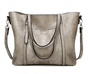 EssVita Women Handbags Tote Shoulder Bags for Women Large PU Leather Top Handle Satchel Messenger Bag Handbag Light Grey