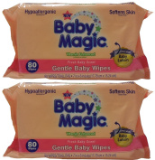 Baby Magic Gentle Baby Wipes, Refill or Travel Pack with 80 wipes