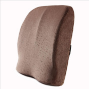 GxNI Lumbar Support Cushion Pillow By Memory Soft - Lower Waist Back Support Cushion for Your Home, Office Chair, and Car - New Ergonomic Memory Foam Design Seat Waist Pillow Pregnant Woman Waist 41*40 , Coffee