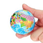 AMA(TM) Simulation World Map Ball Foam Earth Ball Squishy Squeeze Slow Rising Toys Stress Reliever