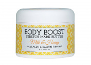 Body Boost Milk & Honey Stretch Mark Butter 240ml- Pregnancy and Nursing Safe Skin Care