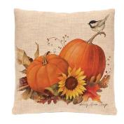 Rosiest Happy Halloween Cotton Linen Square Burlap Decorative Throw Pillow Case Cushion Cover Bat Pumpkin 46cm x 46cm