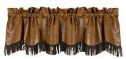 HiEnd Accents Las Cruces Western Micro Suede Valance