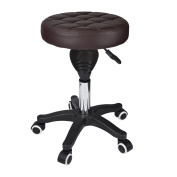 Geboor Rolling Stool Salon Stool PU Leather Seat Stool with Adjustable Height for Medical Office Salon Brown