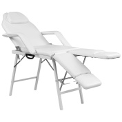Giantex 190cm Portable Tattoo Parlour Spa Salon Facial Bed Beauty Massage Table Chair White