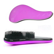 Garrelett Detangling Brush, Paddle Wet Shower Bath Hair Brush Beauty Styling Care Hair Comb - No More Tangle - Adults & Kids Purple