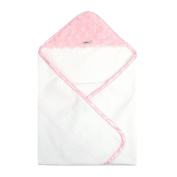 My Blankee Newborn Hooded Luxe Towel, Snail Pink