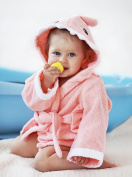 MiniMe Extra Soft Baby Shark Hooded Towel | 100% Organic Cotton | Hypoallergenic | 0-12 Months | 2 Free Washcloths