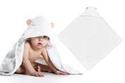"""100% Organic Bamboo Baby Hooded Towel with Extra-Absorbent Material (34"""" x 34"""") 