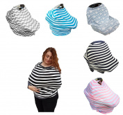 Baby House Gear Breastfeeding Cover – car seat cover, breathable, soft, stretchy, Nursing, Car Seat canopy, Stroller, shopping cart, High chair scarf Protect your baby.