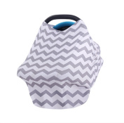 Sunmery Baby Car Seat Canopy Multi-Use Infinity Stretchy Shawl Nursing Breastfeeding Cover Scarf Baby Safety Baskets Sunshade Towel Shopping Cart Stroller Carseat Covers for Girls and Boys