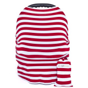 Multi-Use Baby Car Seat Cover - Protect Your Baby From Intense Sun, Wind, Germs And Staring Strangers - Includes Free Storage Bag – Use It As Nursing Cover, Shopping Cart Cover And Infinity Scarf