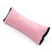 Dulcii Cute Car Seat Belt Pads Children Comfortable Suede Shoulder Protect Pillows Cover, Adjust Vehicle Seat Belt Cushion for Children Safety - Pink