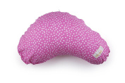 LittlebeamUS Nursing Cotton Cushion Pillow with Machine Washable Cover, Floating Dots