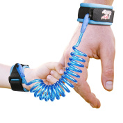 Anti Lost Wrist Link, Gvoo Safety Harness Leash Strap Walking Hand Belt Rope for Child Toddlers Kids Babies (1.5m)-Blue