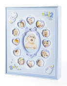 "FaCraft Baby Boy Photo Album Holds 240 Slots 4x6 Photos ""My First Year"" with Gift Storage Box"