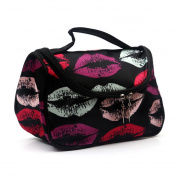 FUNOC Lady Womens Toiletry Bag Pattern Dumplings Shaped Makeup Tote Bag