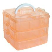DZT1968 Clear Plastic Craft Beads Jewellery Storage Organiser Tool Box Case