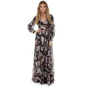 Women Dress, Neartime Long Sleeve V Neck Chiffon Floral Long Maxi Evening Party Dress
