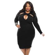 Women Dress, Neartime Plus Size Fashion Long Sleeve O Neck Casual Dress Hollow Dress