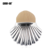 Owill Silver Powder Makeup Brushes Shell Contour Blush Brush For Daily Casual Life