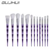 Owill 12Pcs Diamond Design Blending Pencil Face Makeup Brushes Eyeliner Brush Tools
