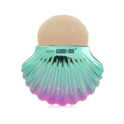 Owill Big Shell Pattern Powder Makeup Brushes Women Girls Cosmetic Tools