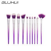Owill 10Pcs Weave Grid Design Blending Pencil Makeup Brushes Eyeliner Brush