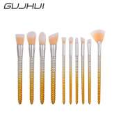 Owill 10Pcs Corn Pencil Anti Slip Design Eye Shadow Makeup Brushes Cosmetic Tools