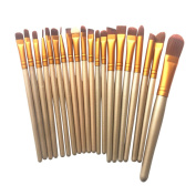 Owill 20 Pcs Makeup Brushes Set Powder Eyeshadow Eyeliner Lip Brush Tools