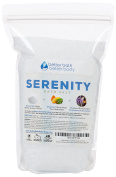 Serenity Bath Salt 0.9kg (950ml) - Epsom Salt Bath Soak With Frankincense, Lavender, Ylang Ylang, & Grapefruit Essential Oils Plus Vitamin C Crystals - Serene Aromatherapy Bath Salts