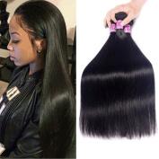Burhair Brazilian Virgin Hair Straight Hair 3 Bundles Unprocessed Human Hair Weave Extension Natural Colour 12 14 41cm