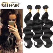 QTHAIR Unprocessed Brazilian Virgin Hair 3 Bundles Body Wave 20 22 60cm 100% Remy Hair Extensions Brazilian Hair Weave Natural Black