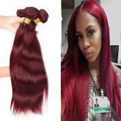 WOME Hair Colour 99j# Red Straight Hair Weaves 100% Human Hair 3 Bundles Peruvian Pure Colour Silky Straight Hair Wefts