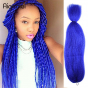 Fashion Lady Aigemei X-pression Jumbo Braiding Hair Extensions Kanekalon 120cm 57g/PC #Blue Colour African Collection Braids Crochet Bulk Braiding Hair Jumbo Braids Crochet Hair
