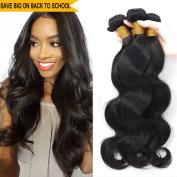 Iwish Malaysian Virgin Hair Body Wave 3 Bundles Natural Black Unprocessed Real Human Hair Weave Full Head Set Wavy Hair Extensions No Shedding No Tangle