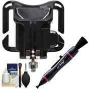 Precision Design PD-BG Quick Release Belt Grip Camera Holster with Lenspen + Cleaning Kit for Lightweight DSLR & Mirrorless ILC Cameras