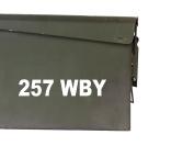 FGD 257 WBY Ammo Box Decal Sticker Label Set Two 17cm x 3.8cm One 7.6cm x 1.9cm