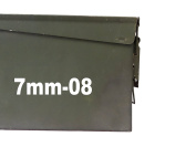 """FGD 7mm-80 Ammo Box Decal Sticker Label Set Two 5.75"""" x 1.5"""" One 3"""" x 0.75"""""""