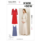 Kwik Sew Ladies Plus Size Sewing Pattern 3514 Special Occasion Dresses & Bolero
